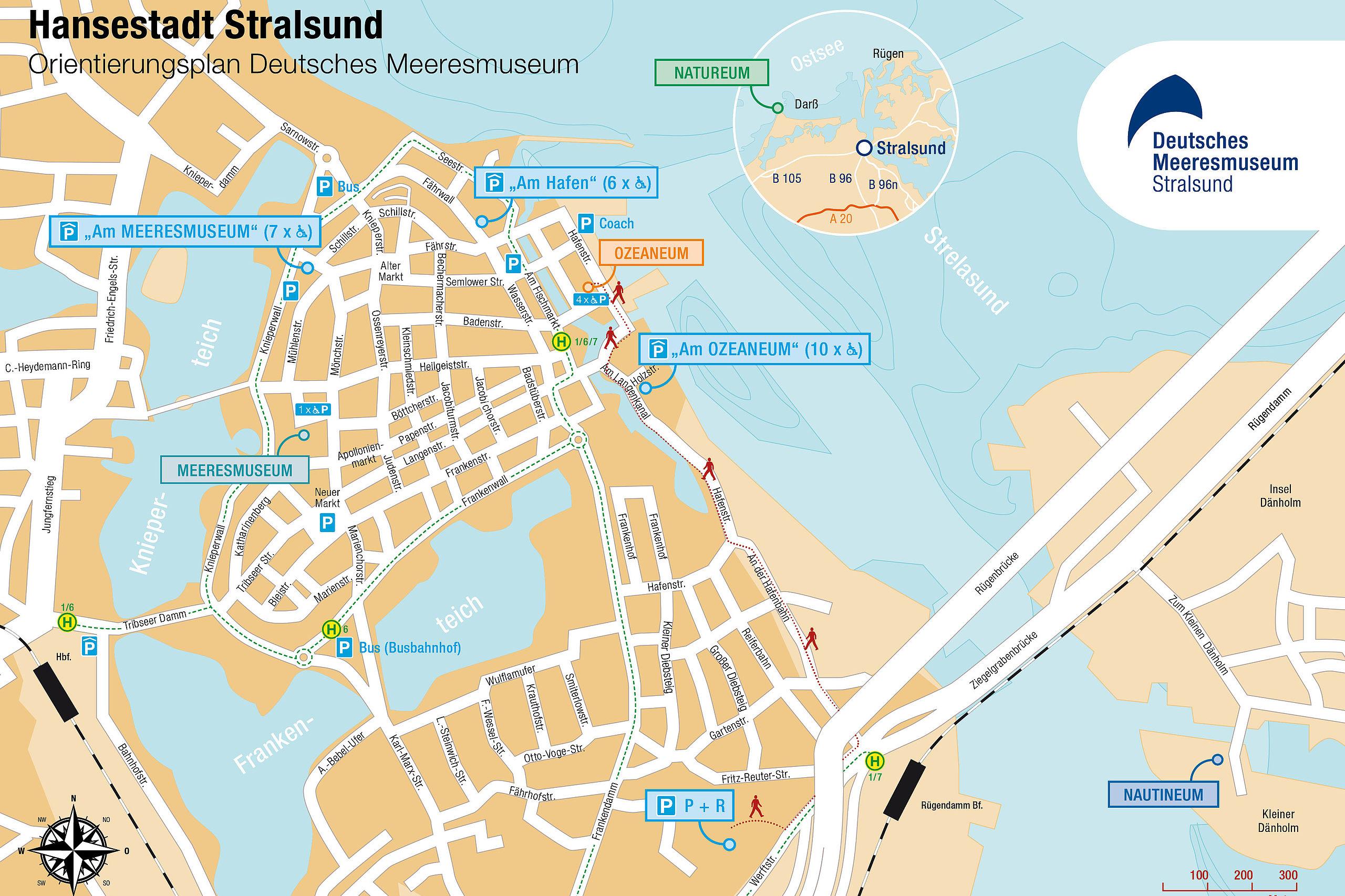 Stralsund Karte.Anreise